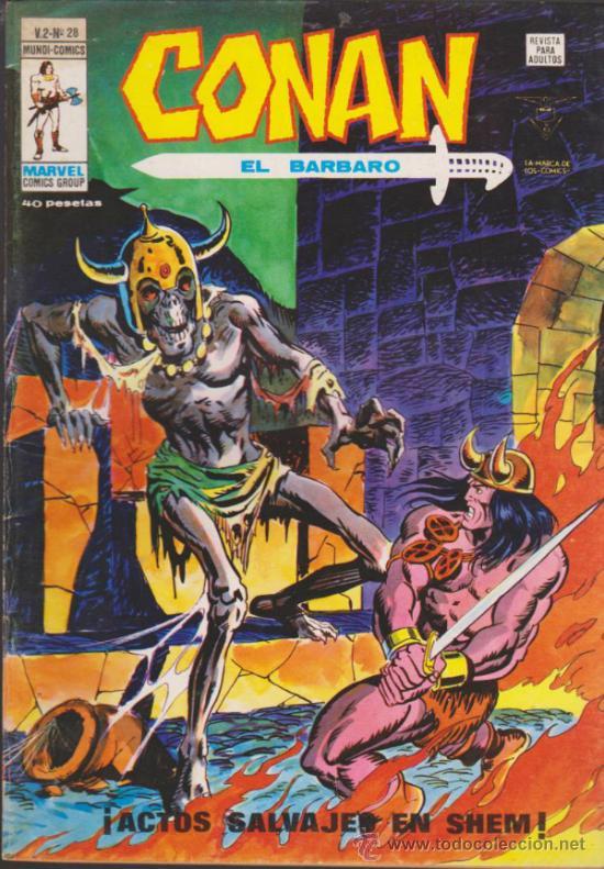 CONAN. V.2 . Nº 28. VÉRTICE. (Tebeos y Comics - Vértice - Conan)