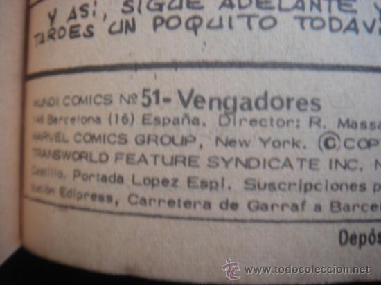 Cómics: LOS VENGADORES, VÉRTICE, VOLUMEN 1, NÚMERO 51, UN NUEVO MIEMBRO DEL GRUPO, AÑO 19741974 - Foto 4 - 31800275