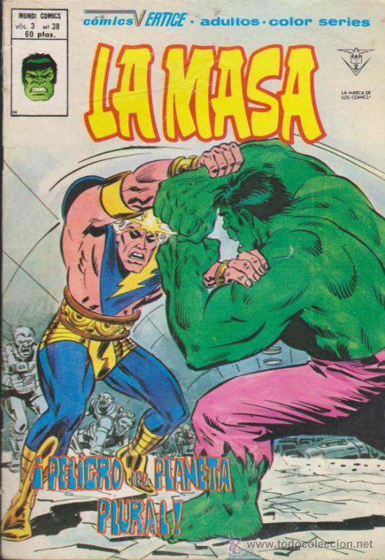 LA MASA V.3 Nº 38. VÉRTICE. (Tebeos y Comics - Vértice - La Masa)