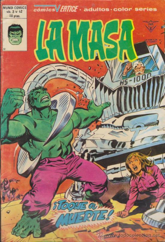 LA MASA V.3 Nº 42. VÉRTICE. (Tebeos y Comics - Vértice - La Masa)