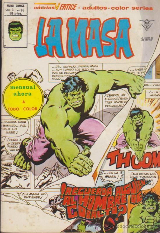 LA MASA V.3 Nº 36. VÉRTICE. (Tebeos y Comics - Vértice - La Masa)