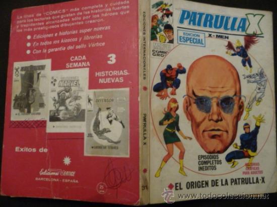 Cómics: PATRULLA X. Nº 31. VÉRTICE. TACO. 25 PTAS. - Foto 2 - 31855919