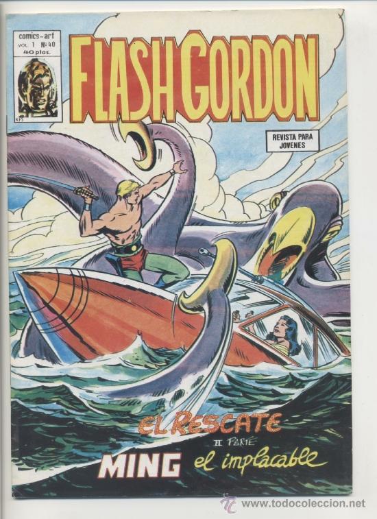 FLASH GORDON V1 Nº40 (Tebeos y Comics - Vértice - Flash Gordon)