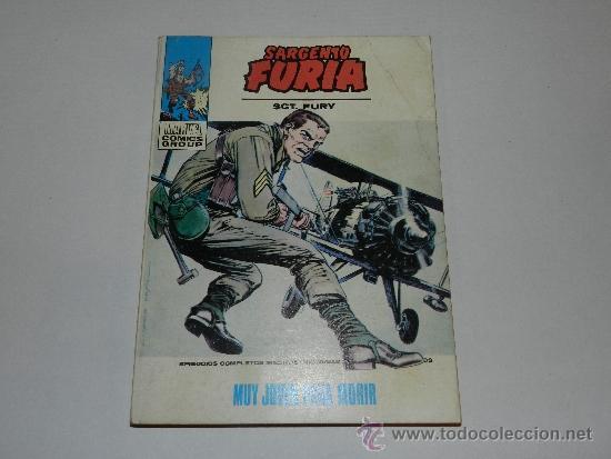 (M-1) SARGENTO FURIA NUM 8 , EDC VERTICE 1972 , SEÑALES DE USO (Tebeos y Comics - Vértice - Furia)
