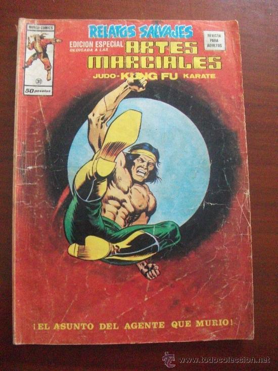 RELATOS SALVAJES ARTES MARCIALES VOL 1 Nº 31 EDICIONES VERTICE (Tebeos y Comics - Vértice - Relatos Salvajes)