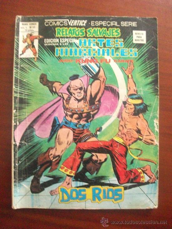 RELATOS SALVAJES ARTES MARCIALES VOL 1 Nº 50 EDICIONES VERTICE (Tebeos y Comics - Vértice - Relatos Salvajes)