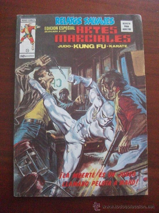 RELATOS SALVAJES ARTES MARCIALES VOL 1 Nº 23 EDICIONES VERTICE (Tebeos y Comics - Vértice - Relatos Salvajes)