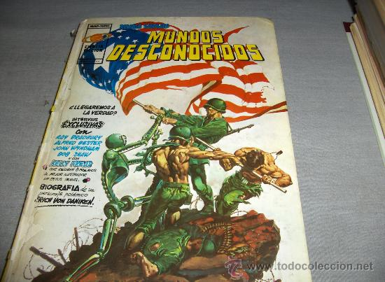 VÉRTICE ANTOLOGÍA DEL COMIC Nº 2 MUNDOS DESCONOCIDOS RELATOS SALVAJES. 1977. 300 PTS. DIFÍCIL!!!!!! (Tebeos y Comics - Vértice - Relatos Salvajes)