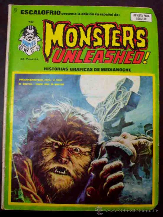 ESCALOFRIO PRESENTA: Nº 19. MONSTERS UNLEASHED. (C/A4) (Tebeos y Comics - Vértice - Otros)