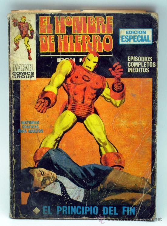 EL HOMBRE DE HIERRO IRON MAN EDICIÓN ESPECIAL MARVEL COMICS EL PRINCIPIO DEL FIN ED VÉRTICE 1970 (Tebeos y Comics - Vértice - Hombre de Hierro)