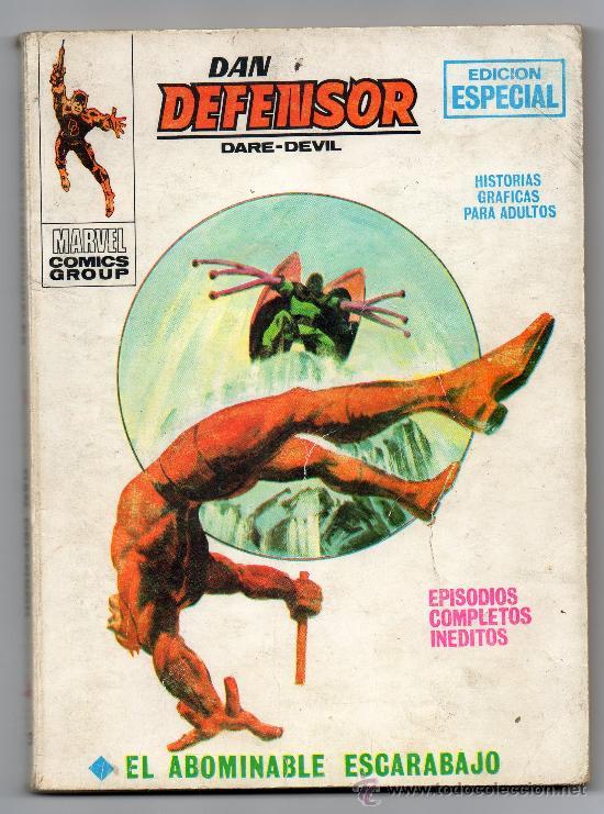 DAN DEFENSOR · DAREDEVIL · NÚM. 13 · EDICIONES VÉRTICE · MARVEL · EL ABOMINABLE ESCARABAJO (Tebeos y Comics - Vértice - Dan Defensor)