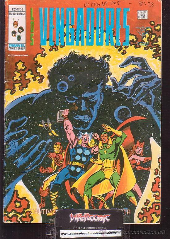 LOS VENGADORES VOL. 2 Nº 36 ( VERTICE ) (Tebeos y Comics - Vértice - V.2)