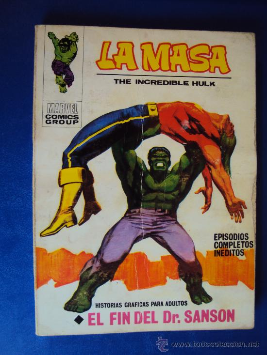 (COM-105)COMIC VERTICE LA MASA Nº22 - 25 PTS. (Tebeos y Comics - Vértice - La Masa)
