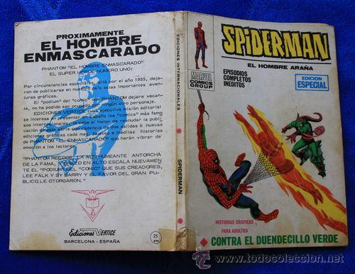 SPIDERMAN, VOL1, NUM.8: CONTRA EL DUENDECILLO VERDE (VERTICE TACO) (Tebeos y Comics - Vértice - V.1)