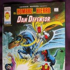 Cómics: EL HOMBRE DE HIERRO Y DAN DEFENSOR. V.1. Nº 52. EDICIONES VÉRTICE.1975.. Lote 34577047