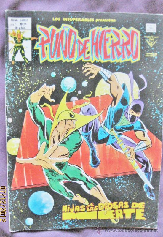PUÑO DE HIERRO. V.1. Nº 24. EDICIONES VÉRTICE 1979. ( 40 PTS ) (Tebeos y Comics - Vértice - V.1)