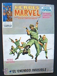 HEROES MARVEL. CON EL CAPITÁN SAVAGE. Nº 8: EL ENEMIGO INVISIBLE. MARVEL COMICS GROUPS. ED VÉRTICE (Tebeos y Comics - Vértice - Otros)