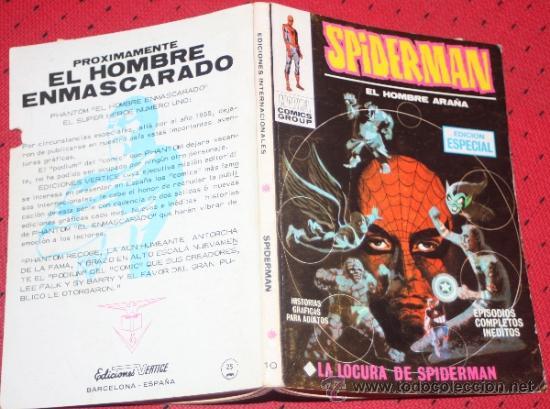 SPIDERMAN, VOL1, NUM.10: LA LOCURA DE SPIDERMAN (VERTICE TACO) (Tebeos y Comics - Vértice - V.1)