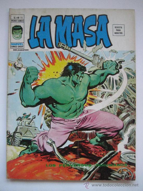 LA MASA V.3 Nº 10. VERTICE (Tebeos y Comics - Vértice - La Masa)