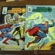 Cómics: CÍRCULO JUSTICIERO / LOTE DE 2 NÚMEROS: 1 Y 15 / VÉRTICE. Lote 36026886