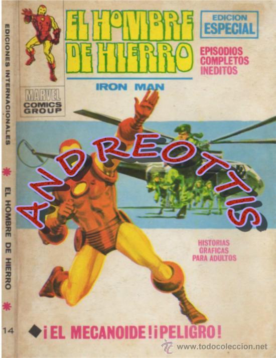 EL HOMBRE DE HIERRO (IRON MAN), VERTICE VOLUMEN 1 N. 14 EL MECANOIDE PELIGRO (Tebeos y Comics - Vértice - Hombre de Hierro)