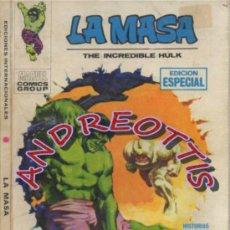 Cómics: LA MASA (THE INCREDIBLE HULK), VERTICE, V.1 N. 2 UN MONSTRUO ANDA SUELTO. Lote 36131216