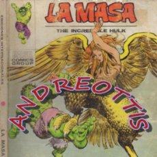 Cómics: LA MASA (THE INCREDIBLE HULK), VERTICE, V.1 N. 33 LA ARPIA. Lote 36160826