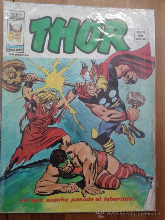 THOR V 2 Nº 21. VOLUMEN 2 NUMERO 21 DE VERTICE (Tebeos y Comics - Vértice - Thor)