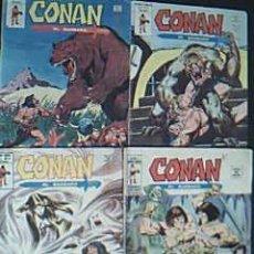 Cómics: LOTE 4 EJEMPLARES CONAN EL BÁRBARO. MUNDI COMICS. MARVEL COMICS GROUP. VÉRTICE AÑOS 70. Lote 36419824