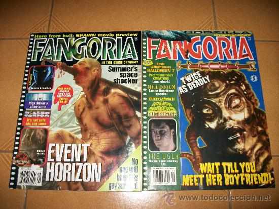 FANGORIA – REVISTA DE TERROR – EDICION USA - #165 Y 172 – EVENT HORIZON (Tebeos y Comics - Vértice - Terror)