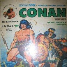 Cómics: CONAN EL BÁRBARO ANUAL 80 NÚMERO 1. Lote 36955719