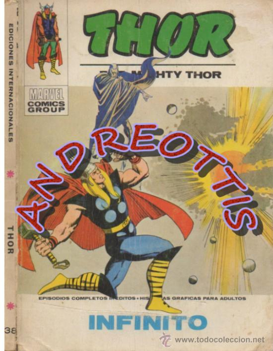 THOR (THE MIGHTY THOR), EDITORIAL VERTICE, V.1 N. 38, INFINITO (Tebeos y Comics - Vértice - Thor)