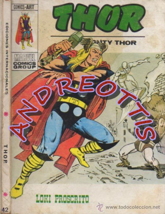 THOR (THE MIGHTY THOR), EDITORIAL VERTICE, V.1 N. 42, LOKI PROSCRITO (Tebeos y Comics - Vértice - Thor)