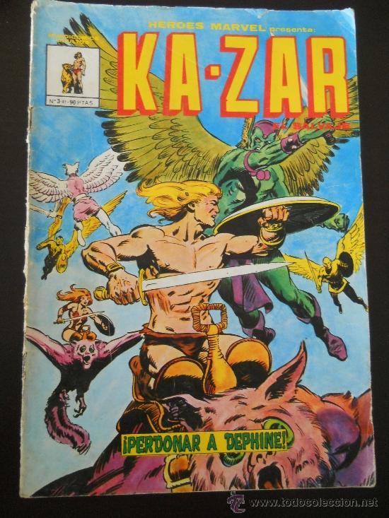 KA-ZAR EL SALVAJE Nº 3 - HEROES MARVEL - EDICIONES VERTICE- PERDONAR A DEPHINE - AÑO 1981 (Tebeos y Comics - Vértice - Otros)