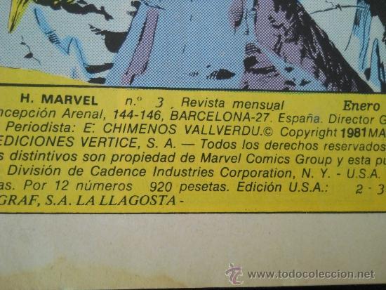 Cómics: KA-ZAR EL SALVAJE Nº 3 - HEROES MARVEL - EDICIONES VERTICE- PERDONAR A DEPHINE - AÑO 1981 - Foto 3 - 37232069