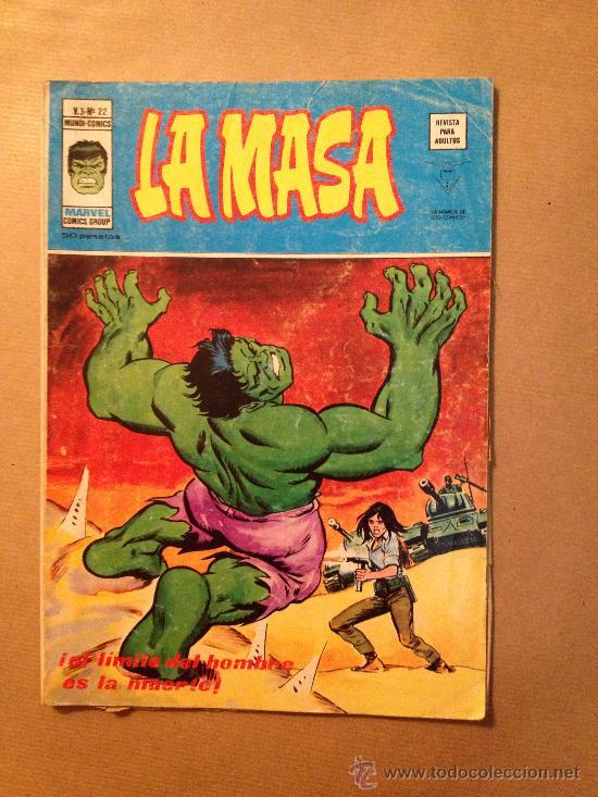 LA MASA - VOL. 3 - Nº 22 / EDIC. VERTICE AÑO 1974 (Tebeos y Comics - Vértice - La Masa)