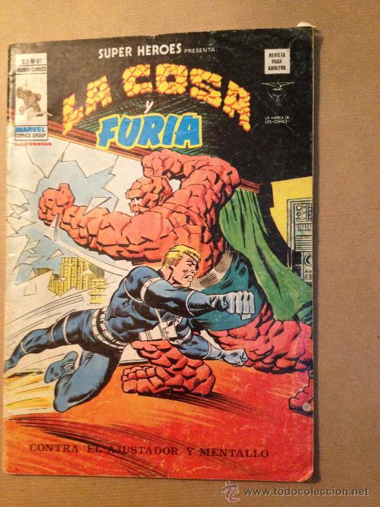 LA COSA Y FURIA - VOL. 2 -Nº 87 / EDIC. VERTICE - 15 DE JUNIO DE 1974 (Tebeos y Comics - Vértice - Otros)