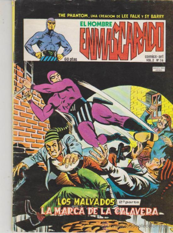 EL HOMBRE ENMASCARADO VOL.2 Nº 36. (Tebeos y Comics - Vértice - Hombre Enmascarado)