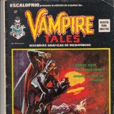 Cómics: ESCALOFRIO N. 27 - VAMPIRE TALES N. 7. Lote 38049327