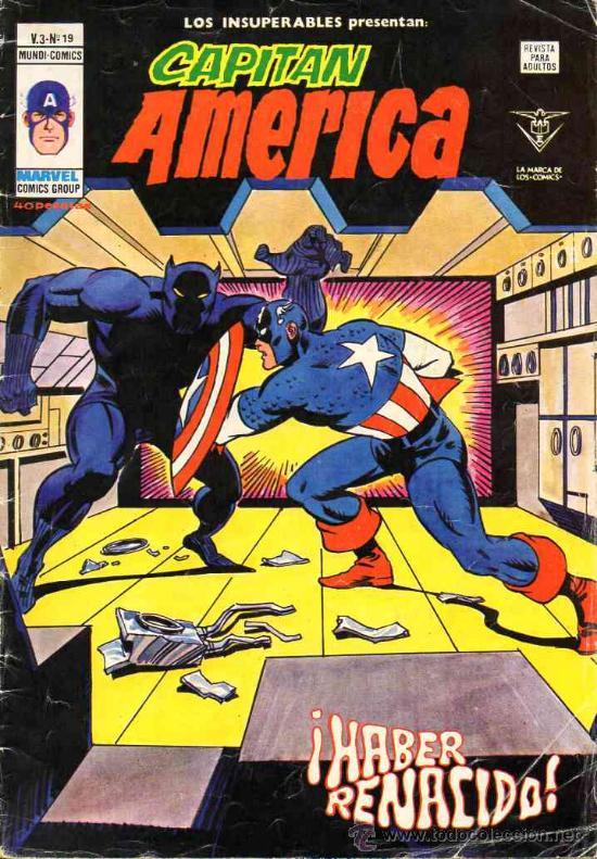 INSUPERABLES VOL.3 # 19 (VERTICE,1979) - CAPITAN AMERICA - JACK KIRBY (Tebeos y Comics - Vértice - Capitán América)