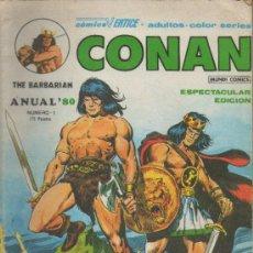 Cómics: CONAN THE BARBARIAN. ANUAL 80. VÉRTICE. Nº 1. Lote 38931086