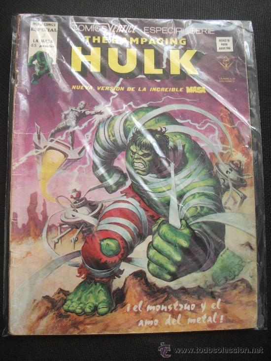 THE RAMPAGING HULK Nº 3 EDICIONES VERTICE (Tebeos y Comics - Vértice - La Masa)