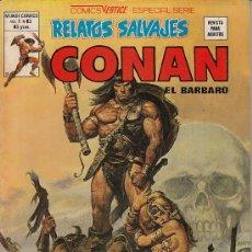 Cómics: RELATOS SALVAJES VOL.1 # 83 - CONAN EL BARBARO (VERTICE,1980) - ESPADA SALVAJE. Lote 39108499