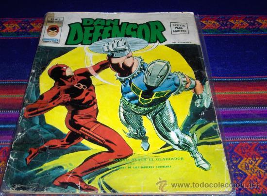 VÉRTICE VOL. 2 DAN DEFENSOR Nº 3. 30 PTS. 1975. DIFÍCIL!!!!!!!!!! (Tebeos y Comics - Vértice - Dan Defensor)