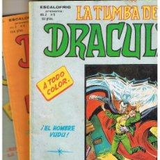 Cómics: ESCALOFRIO PRESENTA: LA TUMBA DE DRACULA. VOL. 2 .LOTE 3 NROS. 5, 6 Y 7.(Y SUELTOS)(C/A4). Lote 39225231
