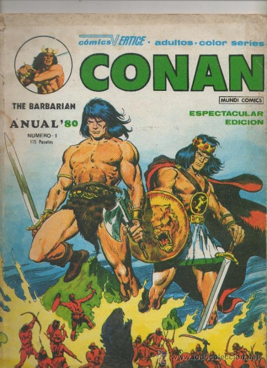 CONAN THE BARBARIAN. ANUAL 80. VÉRTICE. Nº 1 (Tebeos y Comics - Vértice - Conan)