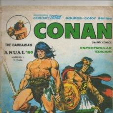 Cómics: CONAN THE BARBARIAN. ANUAL 80. VÉRTICE. Nº 1 . Lote 39279280