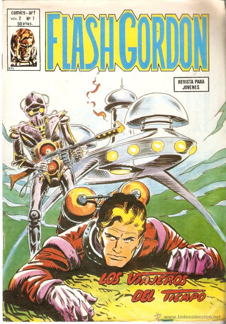 FLASH GORDON VOL. 2 Nº 7 - LOS VIAJEROS DEL TIEMPO - EDICIONES VÉRTICE- 1979 (Tebeos y Comics - Vértice - Flash Gordon)