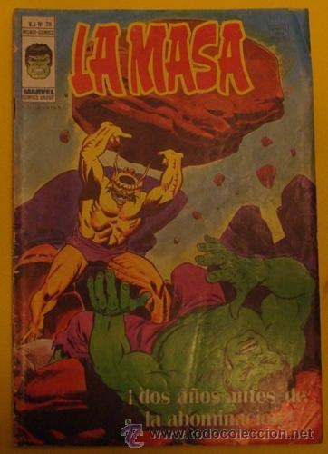 LA MASA ¡DOS AÑOS ANTES DE LA ABOMINACIÓN! V.3 N.28 AÑO 1976 (Tebeos y Comics - Vértice - La Masa)