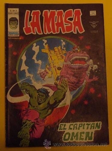 LA MASA EL CAPITÁN OMEN V.3 NO.31 AÑO 1978 (Tebeos y Comics - Vértice - La Masa)